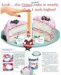 """""""Observa... el pastel navideño Crisco es casi una pulgada más alto"""""""