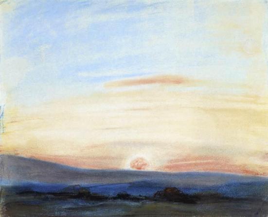 Delacroix_Eugene-Study_of_Sky_Setting_Sun