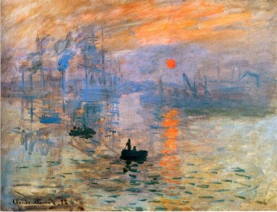Monet, Impresion, sol naciente